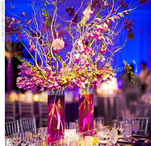 Wedding centerpieces pizazz florals blog pink dendrobium orchids and branching junglespirit Choice Image